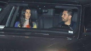 Kourtney Kardashian And Scott Disick Carpool To Jonathan Cheban's Brithday Party