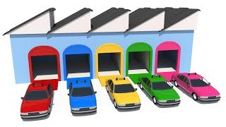 Taxi Toy Factory Learn colors for children with Street Vehicles Parking Toy for Kids