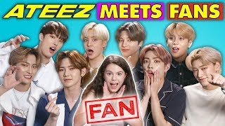 K-Pop Fans React To And MEET K-Pop Stars (ATEEZ 에이티즈)