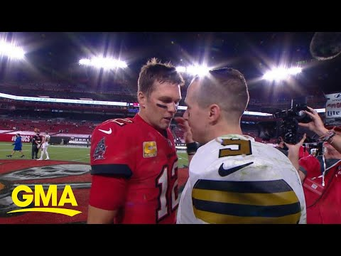 Quarterback face-off with Tom Brady, Drew Brees