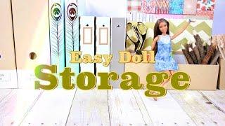 DIY - How to Make: Easy Doll Storage | Plus Doll Storage Tips - Handmade - Crafts - 4K