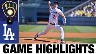 Brewers vs. Dodgers Game Highlights (10/3/21) | MLB Highlights