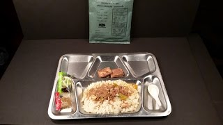 2010 Thai Army Ration MRE Stir Fried Beef Panang Curry & Pepper (Like mrejap review) Military Food