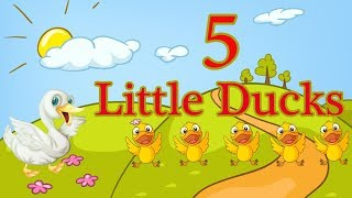 Five little ducks nursery rhymes - #1
