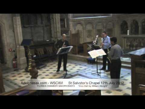 WSCXVI FLORIDA CHAMBER SAXOPHONISTS   Doo Dah by William Albright