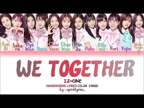*How Would* IZONE (아이즈원) Sing - We Together (앞으로 잘 부탁해) [Han|Rom|Eng] Color Coded Lyrics