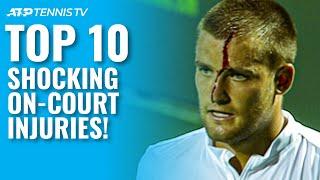 Top 10 Shocking On-Court Tennis Injuries!