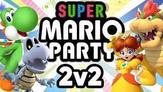 Super Mario Party - WAFFLES vs PANCAKES (2v2 Duos Gameplay)