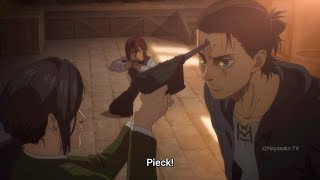 Eren Being Savage. I Dare You to Pull The Trigger, Pieck | Attack on Titan Season 4