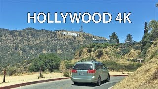 Driving Downtown - Hollywood Sign 4K - USA