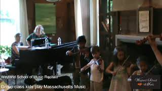 Group class kids play Massachusetts Music