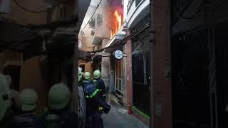 Cháy hẻm phố đi bộ Bùi Viện