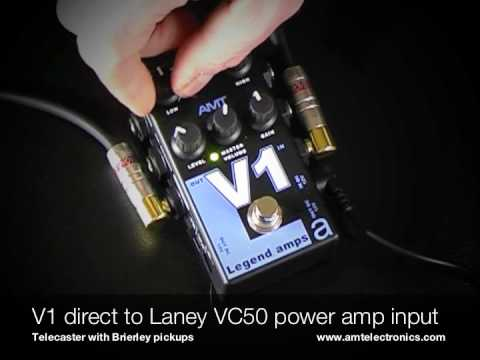 AMT Electronics: Legend amps V1. To Laney VC50 (power amp input) with Telecaster.