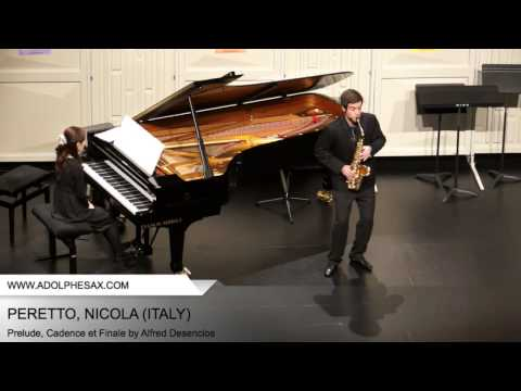 Dinant2014 PERETTO Nicola Prelude, Cadence et Finale by Alfred Desenclos