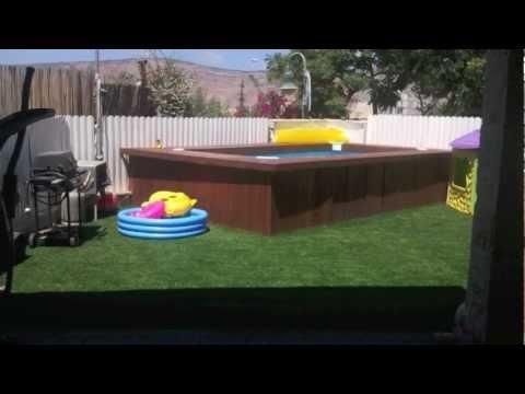 Swimming Pool Deck Intex 58982 בריכת אינטקס Youtube