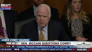 WATCH: Everyone Is Talking About John McCain's Bizarre Questioning To James Comey (FNN)