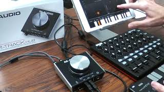 Testing out the M-Audio M-Track Hub with iPad
