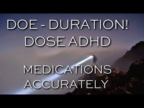 ADHD: Medication Dosage - Duration of Effectiveness - DOE