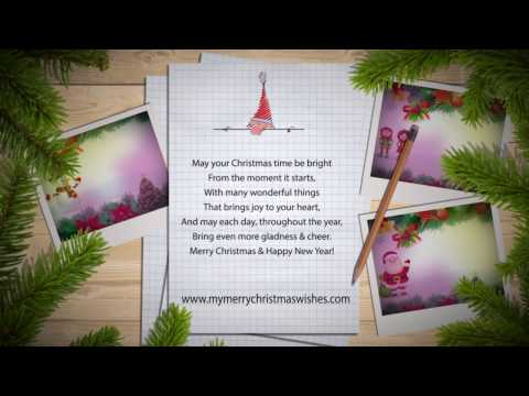 Merry Christmas Wishes with Animated Greetings Messages