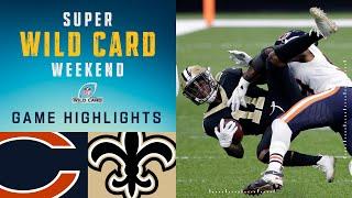 Bears vs. Saints Super Wild Card Weekend Highlights | NFL 2020 Playoffs