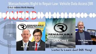 Massachusetts Right to Repair Law: Vehicle Data Access [RR 574]