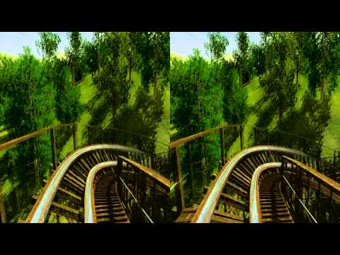 3D Rollercoaster: Wooden Jungle (3D for PC/3D phones/3D TVs/Crossed Eyes)
