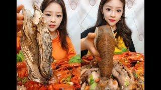 măm hải sản bá chấy _ ăn ốc vòi voi , hào tươi thơm ngon | mukbang eat seafood