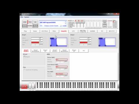 Creating the Snarling Pig (Jordan Rudess) on Korg M3 / M50 / Oasys / Kronos - Programs (2/4)