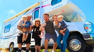 FIRST TIME FAMILY CAMPING IN NEW RV!