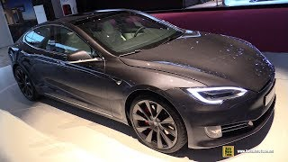 2019 Tesla Model S P100D - Exterior and Interior Walkaround - 2018 Paris Motor Show