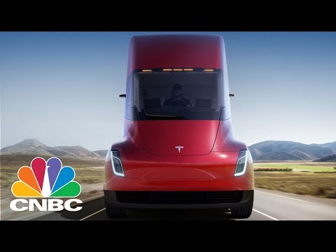 Tesla Just Threw In A Major Surprise At The Semi Truck Unveiling: A Revamped Roadster | CNBC