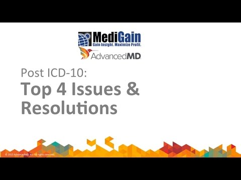 Post ICD10 Top 4 Issues and Resolutions