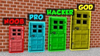 Minecraft NOOB vs. PRO vs. HACKER vs. GOD: DOORS in Minecraft! (Animation)