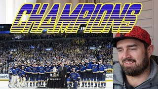 Rugby Fan Watches St Louis Blues win their first NHL Stanley Cup!