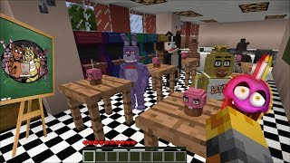 Minecraft FNAF SCHOOL MOD / PLAY WITH THE FNAF KIDS AND TEACH THEM LETTERS!! Minecraft