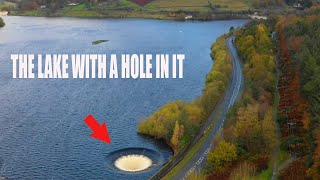 Why is there a 80ft wide hole in this lake? (Ladybower plughole during historic storm)