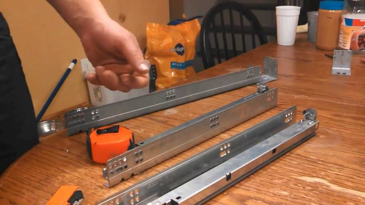 How to install soft close drawer slides - YouTube