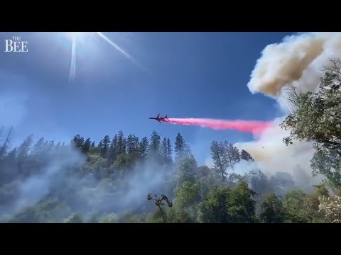 Firefighters Respond To Wildfire Burning At Bear River Campground, California