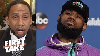 Stephen A. warns LeBron James about possibly joining Warriors | First Take