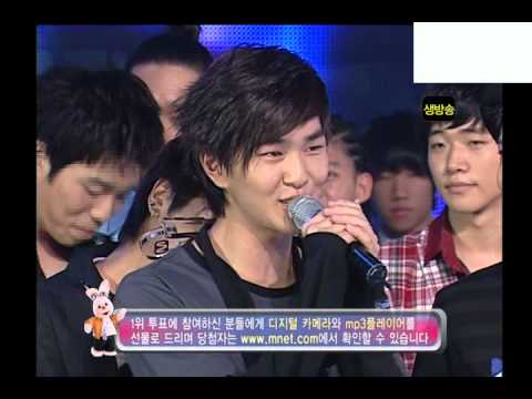 20080918 엠카운트다운 1위수상 (데뷔후 첫1위, 종현 눈물).avi