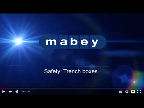 SAFETY: Proper use of trenchboxes