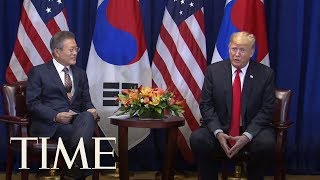 Donald Trump Calls Leader Of North Korea 'Terrific' While Meeting With South Korean President   TIME