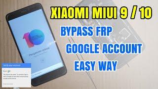Miui 10 Frp/Google Bypass Without Pc mi8,mi s2,mi Y2,,Mi
