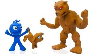 CLAY MIXER: FRENZY PUPPY DOG 💖 Play Doh Cartoons For Kids