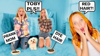 TOBY MADE ME DYE MY HAIR RED! TOBY CONTROLS MY LIFE FOR 24 HOURS! *BIG MISTAKE* #LillyK