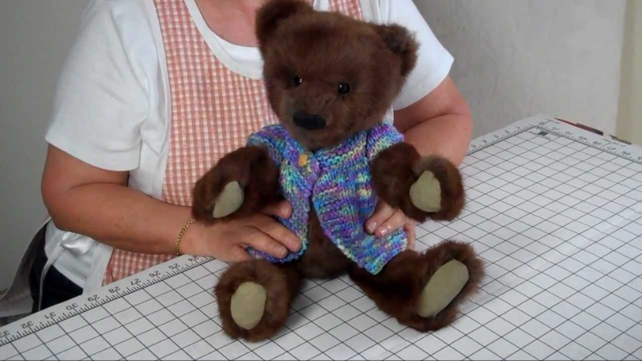How To Make A Jointed Fur Teddy Bear Part 14 Final Steps