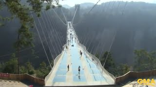 Longest and Highest Glass Bridge Opens in China