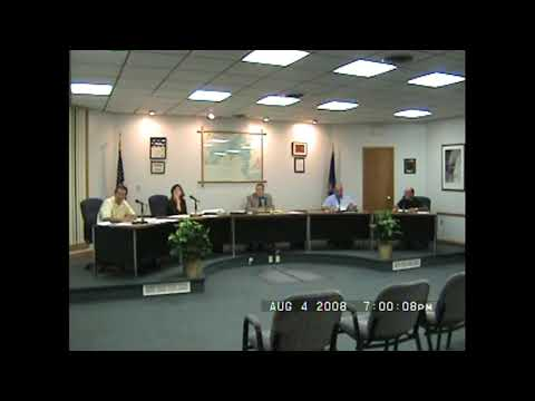 Rouses Point Village Board Meeting end  8-4-08