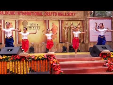 Cambodian Traditional Khmer Dance Performance at Surajkund Mela 2017