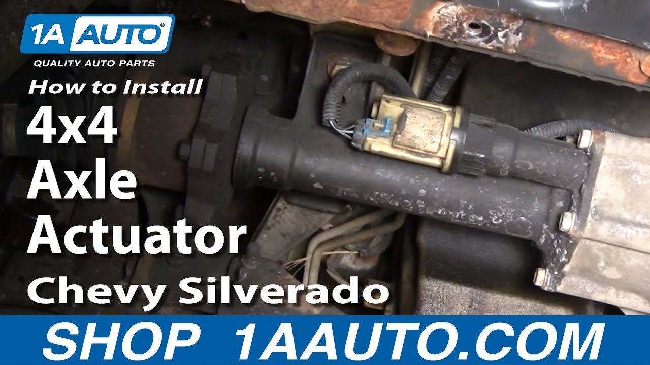 Valve Actuator Chevy Blazer Wiring Diagram Gm Troubleshooting Part 13 4wd Vacuum Cable How To Install Replace 4x4 Axle Silverado Gmc Sierra